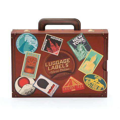 Printable Vintage Luggage Stickers