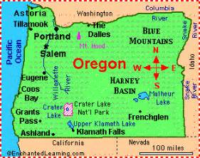 oregon capital map