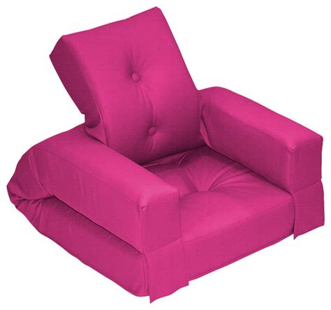 hippo jr convertible futon chair bed pink mattress