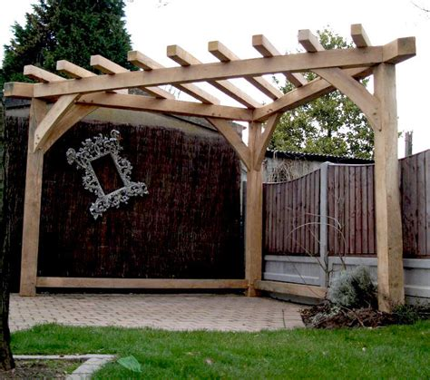 Handmade Gazebos - oak pergola handmade corner gazebo wood garden furniture
