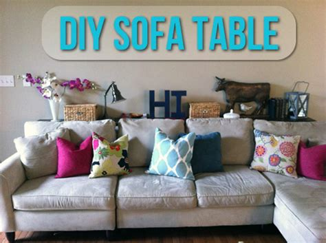 table to go between sofa and wall diy sofa table let s get crafty