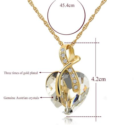 Liontin Luxury White Gold Plated 116 Free Rantai Box Pouch Cantik tripleclicks amazing gold plated necklace earrings jewelry set