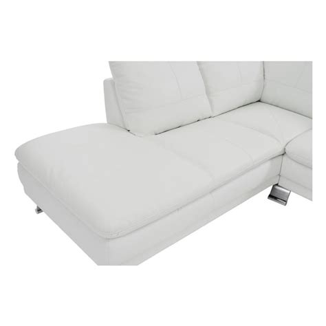 white leather couch with chaise rio white leather sofa w left chaise el dorado furniture