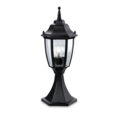 Outdoor Pillar Lights Firstlight 8664bk Faro 1 Light Pillar Black Outdoor Lantern