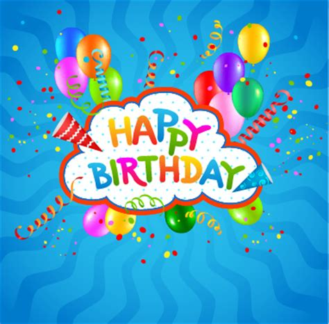colored confetti with happy birthday background vector 02