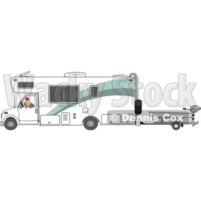 cartoon backing up boat clipart of a cartoon white man backing up a class c