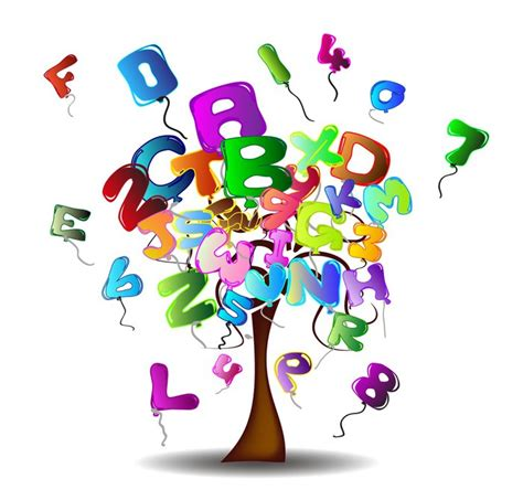 palloncini a forma di lettere carta da parati albero con palloncini in forma di lettere