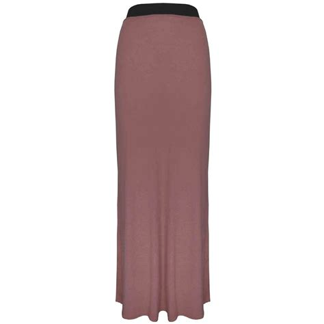 womens jersey maxi dress skirt plain