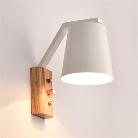 Wood Wall Sconce Aliexpress Buy Modern Nordic Wall L Wall Sconce Led E27 Wooden Iron For Restaurant