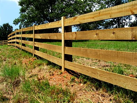 Wood Slat by 3 4 And 5 Board Post And Rail Wood Fence