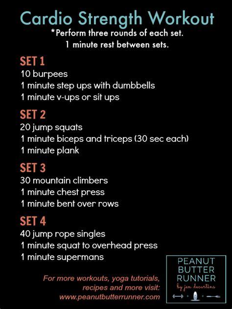 cardio strength workout peanut butter runner fitness
