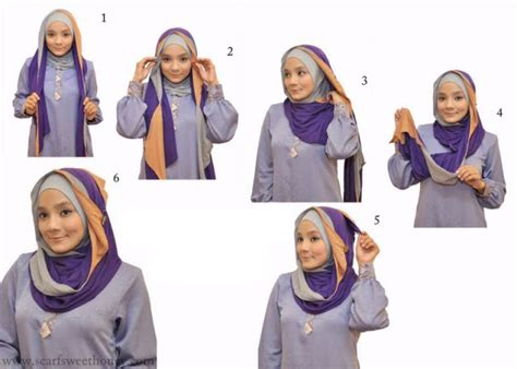 Kreasi Jilbab Segi Empat Best Picture Of Cara Pakai Tudung Grcom Info