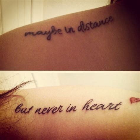 distance tattoos quot together forever never apart maybe in distance never in