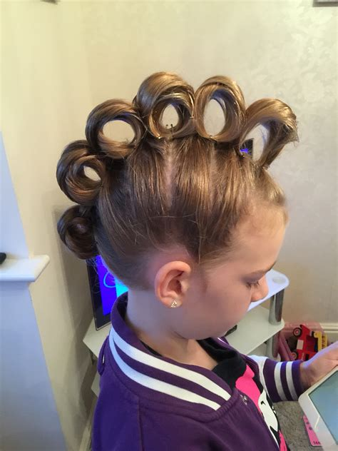 quick and easy crazy hairstyles rolling mohawk for crazy hair day hair pinterest