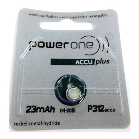 Accu Lu Emergency Rechargeable Powerone P312 Accu Plus Battery Connevans