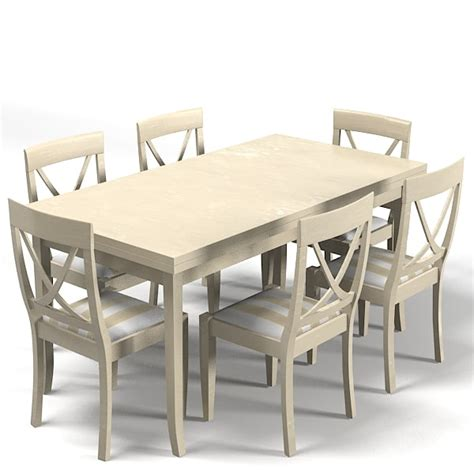 Country Chic Dining Table Country Style Dining 3d Model