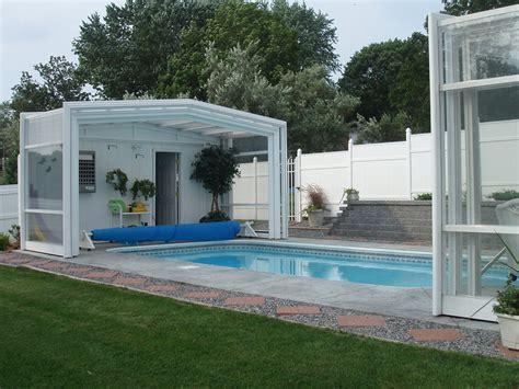 Enclosed Backyard Pools Year Pool Enclosures Also Make His Yard Look Great