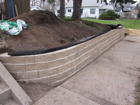 Landscape Fabric Retaining Wall The Wall Part 2 D Oh I Y