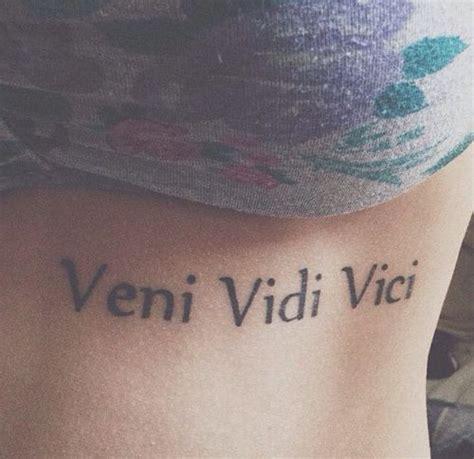 veni vidi vici tattoo 16 veni vidi vici tattoos with explained meaning simple
