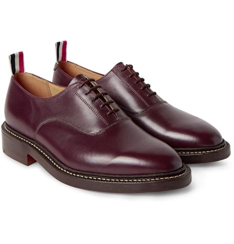 thom shoes thom browne leather oxford shoes in purple for lyst