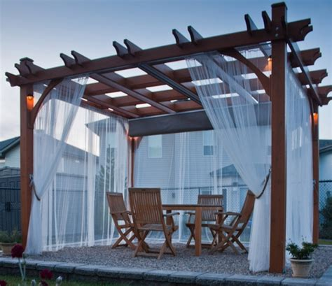 pergola with fabric pergola gazebo outdoor sitting area outdoor fabric for