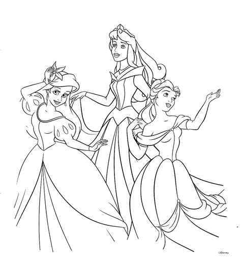 disney princess coloring pages free free printable disney princess coloring pages for