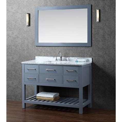 Grey Bathroom Vanity Buy Antonia 48 Inch Solid Wood Single Bathroom Vanity In Charcoal Grey Hm 13002 48 Wmsq Cg