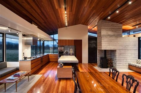 modern ranch style home with land loving layout and