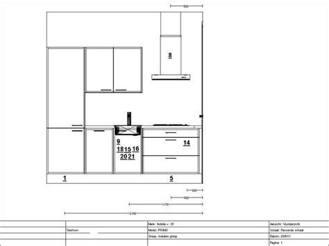keuken tekening keuken aansluitpunten conform tekening maken werkspot
