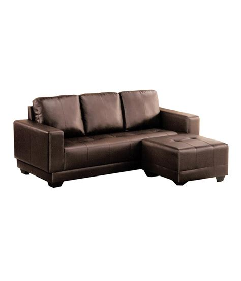 Sofa Pouffe by Modern Sofa 3str Pouf Pvc Brown Buy At Best Price