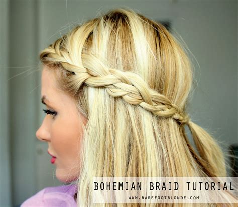hairstyles to do for bohemian hairstyles for black hair bohemian braid tutorial barefoot blonde by amber
