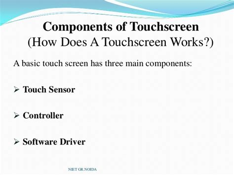 how do touch ls work capacitive touch screen