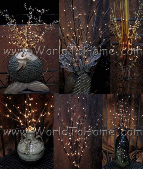 willow branches with led lights large 38in 96 light willow branch lights willow branch lights