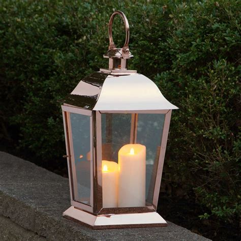 backyard lanterns parkside copper candle lantern outdoor