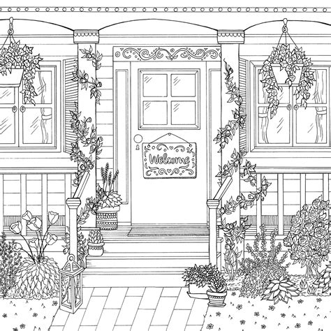 secret garden coloring book usa the world of debbie macomber on behance