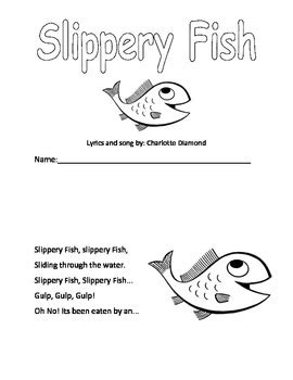 slippery fish booklet by miss little teachers pay teachers