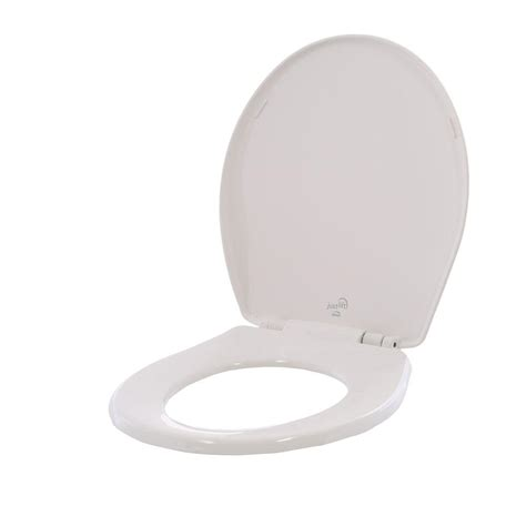 bemis bathroom products bemis just lift round closed front toilet seat in white