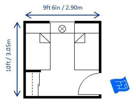 minimum size for bedroom 10ft x 9ft6ins bedroom size for twin beds allows for the