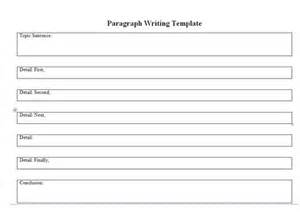 paragraph writing template baillargeonmusic special education practicum