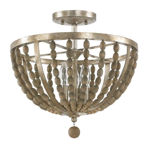 wood bead ceiling light capital lighting fixture company lowell tuscan bronze with
