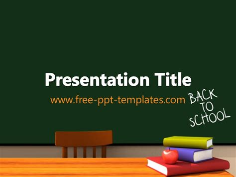 Back To School Pp Template Free Powerpoint Templates School