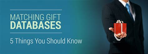 5 Important Things You Should by Matching Gift Databases 5 Important Things You Should