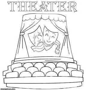 Theater coloring pages coloring pages to download and print