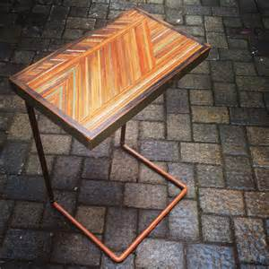 Table That Slides Under Sofa Items Similar To Couch Hugging Side Table Tv Tray On Etsy