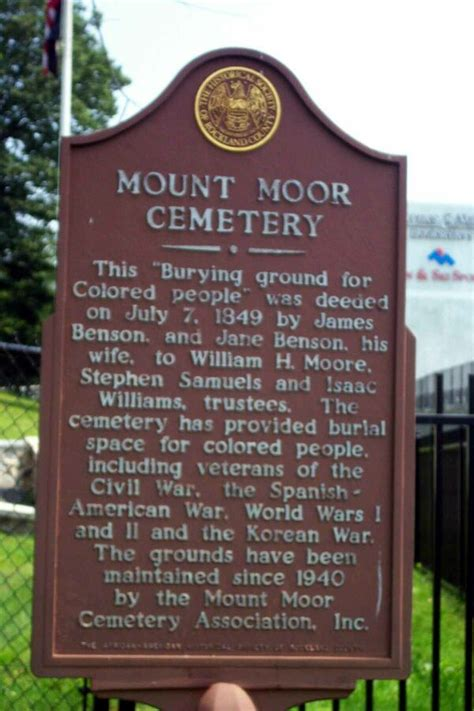 Rockland County Records Mount Moor Cemetery Rockland County New York