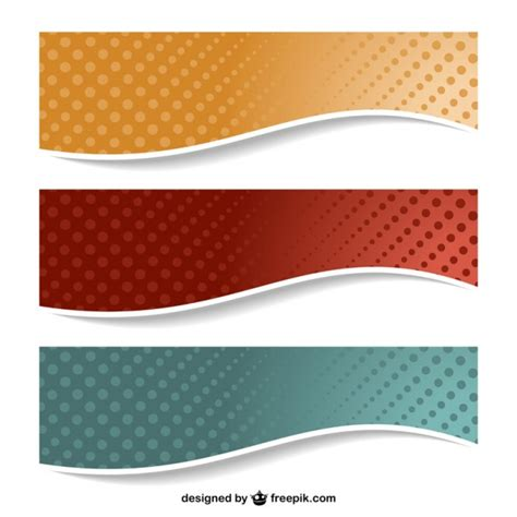 design banner vector dotted banners design vector free download