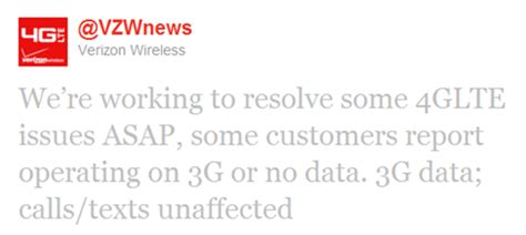 update verizon wireless service affected by hawtel outage big updated verizon experiencing nationwide data outage