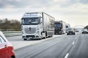 Mercedes Actros Trucks Autonomous Mercedes Actros Trucks Travel Through