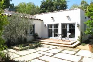 Houzz Floor Plans Spanish Courtyard Mediterranean Exterior Los Angeles