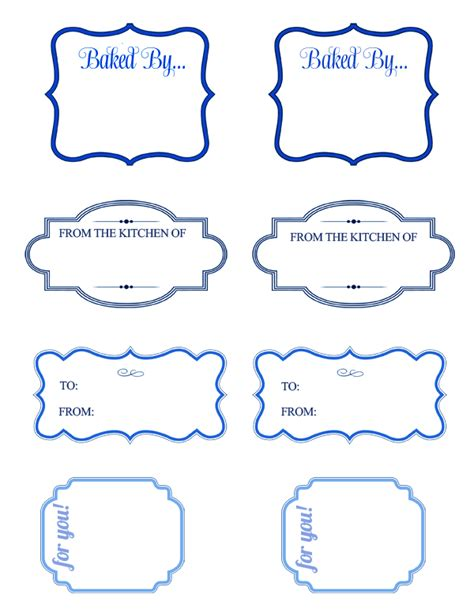 Free Printable Baking Gift Tags Made With Label Template